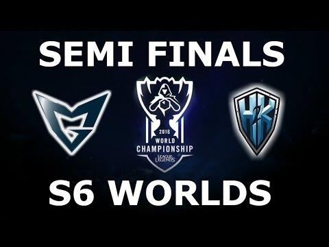 SSG vs H2K - Semi Finals Full Series S6 LoL eSports World Championship 2016! Samsung vs H2K