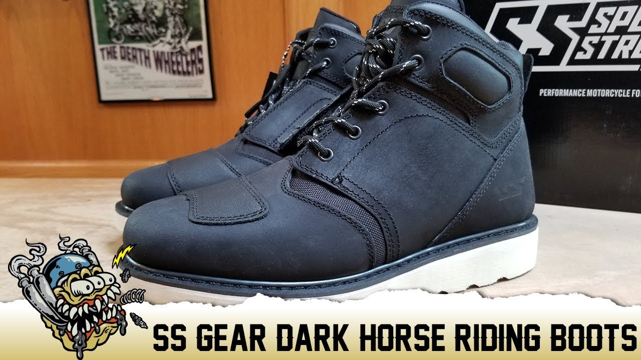 Black Speed and Strength Dark Horse Mens Street Motorcycle Boots 12