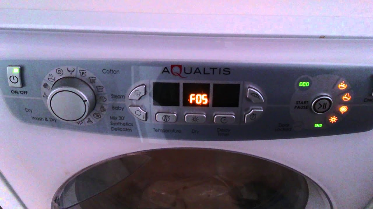 Hotpoint Lave Linge Hotpoint Aqualtis F05 Fault - Youtube