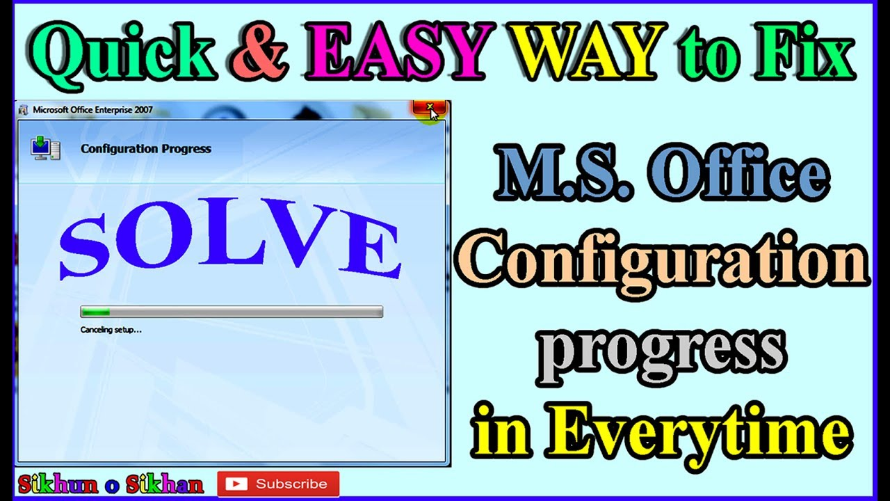quick easy way to fix ms office configuration progress in everytime when open it in bengali