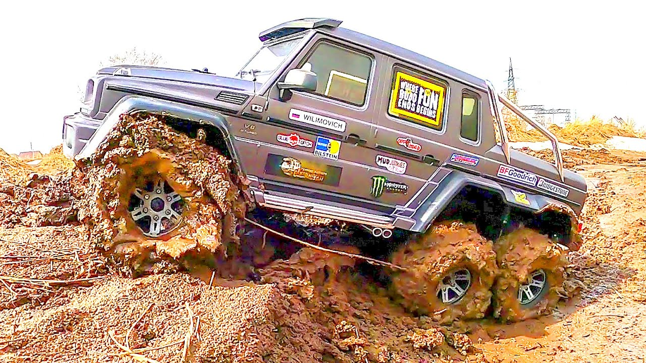 RC Car MUD OFF Road Extreme Mercedes Benz G 63 AMG 6x6 Traxxas TRX6 — Wilimovich