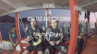 Night diving on Koh Tao and Koh Samui