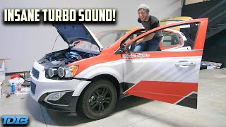 homepage tile video photo for We Fixed Rob Dyrdek's Chevy Sonic Turbo! FIRST TEST DRIVE! (Will We Jump It?)