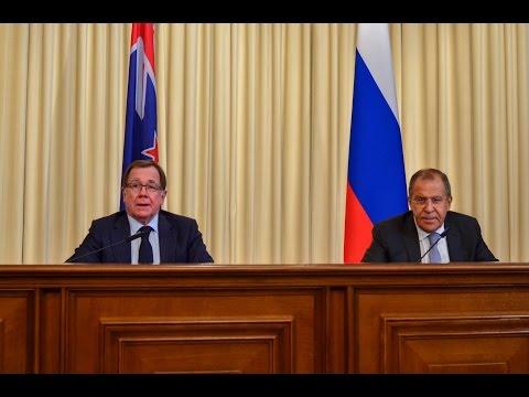 Пресс-конференция С.Лаврова и М.Маккалли| Press-conference of Sergey Lavrov and Murray McCully