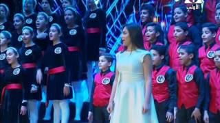 غناء كورال أطفال مصر خلال الإحتفال بعيد الشرطة بمشاركة أبطال ''ذا فويس كيدز''