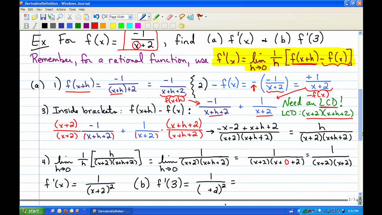 Calculus 1 How to find the Derivative of a Function - YouTube