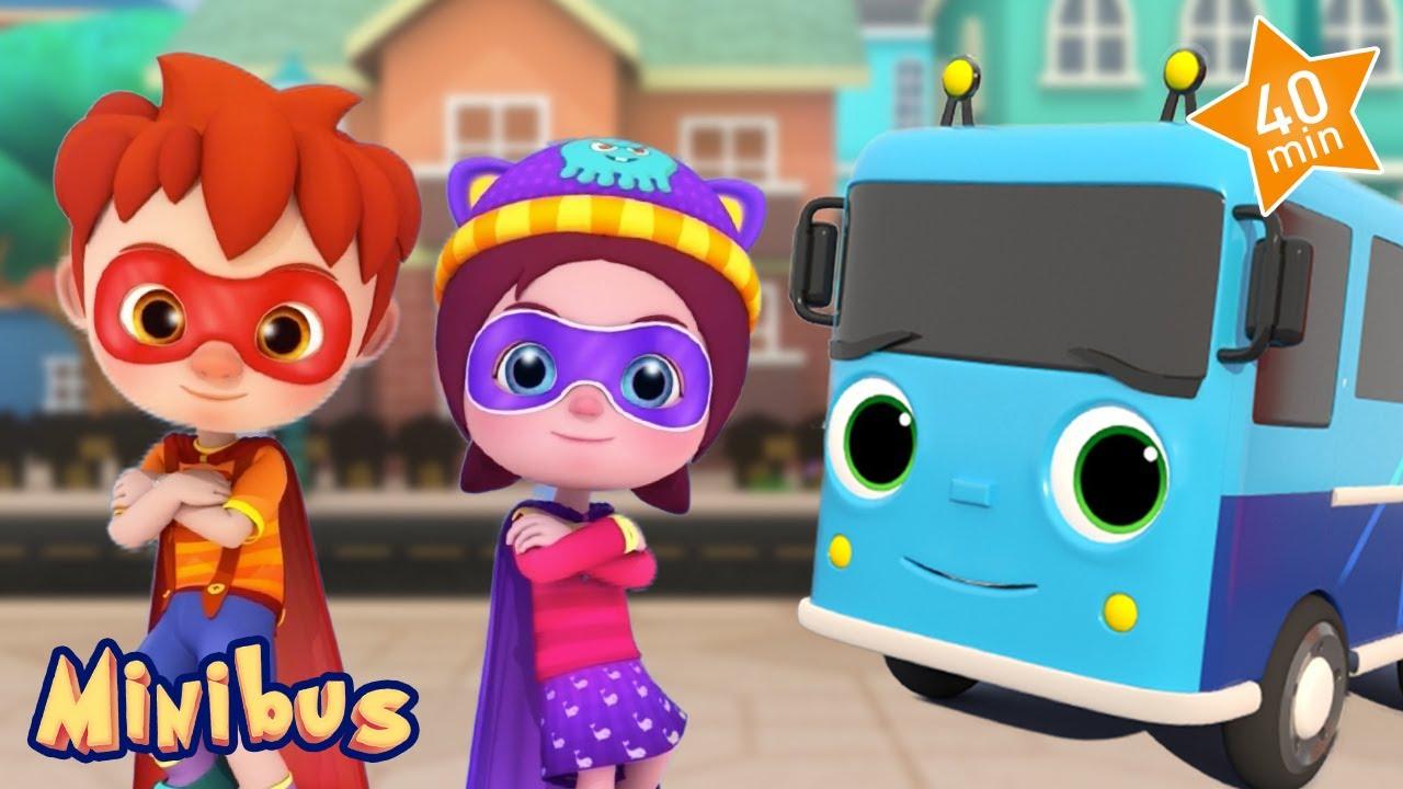 Superhero Kids Song + More Nursery Rhymes & Kids Songs | Minibus