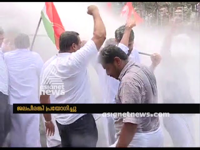 Conflict in youth congress's march demanding TP Ramakrishnan's resignation