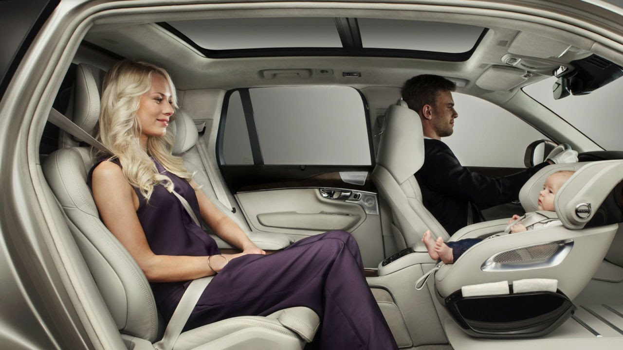 Volvo reveals Rear-Facing Car seat for Child - YouTube