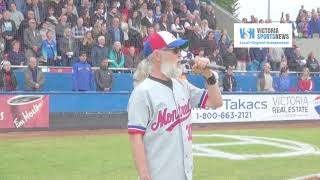Ivan Doroschuk from Men Without Hats sings national anthems