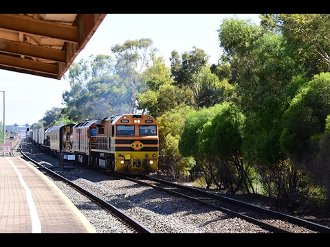 GWA 7AD1 Adelaide To Darwin Freight Train At Parafield Gardens 11/2/17