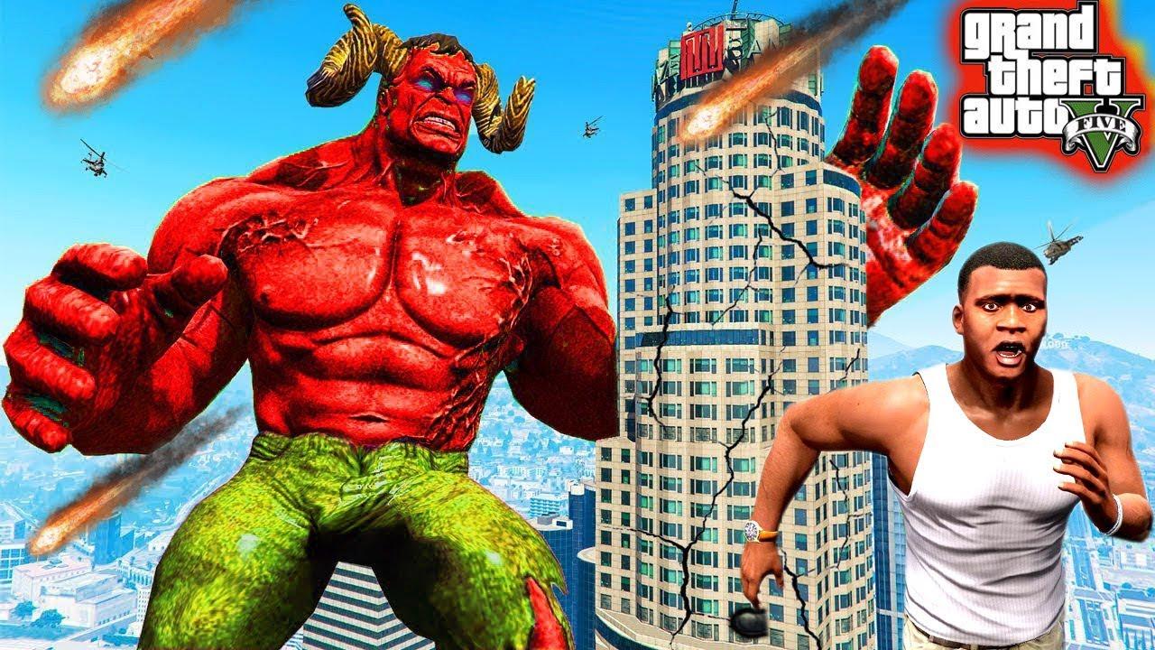 "I FOUND GOD "" LAVA HULK "" in GTA5 | GTA5 AVENGERS"