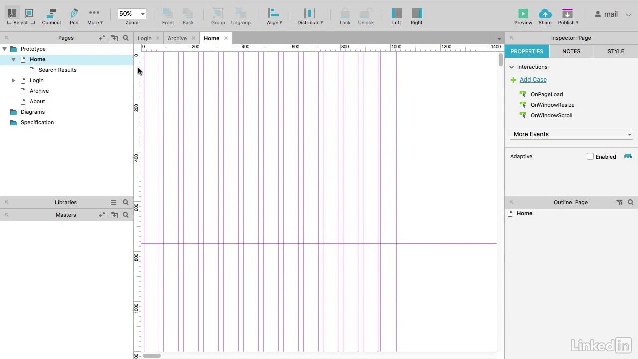 UX Design mit Axure 8 – Grundlagen Tutorial: Seiten einrichten ...