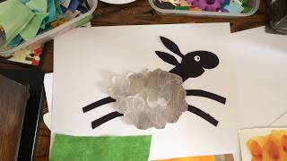 How to make a collage sheep