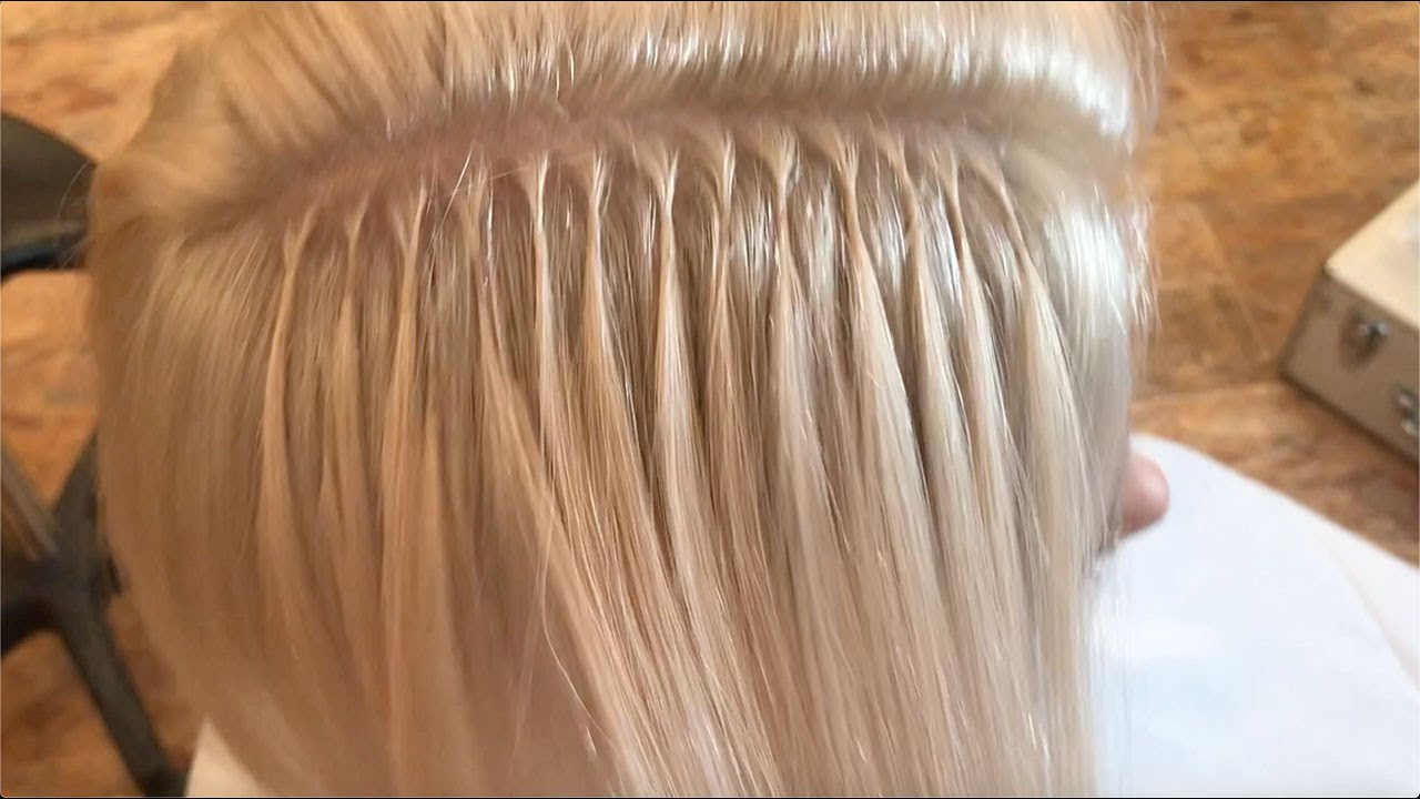 Platinum Pixie to Bob with Great Lengths Hair Extensions