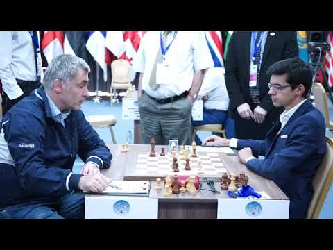 Nice final moment when Vassily Ivanchuk offers a draw to Anish Giri