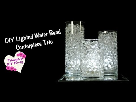 DIY Water Bead Centerpiece Trio with LED Lights