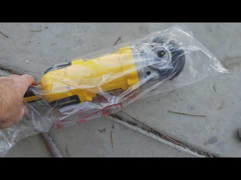 DeWalt dwp849x Automotive polished buffer unboxing what's in the box