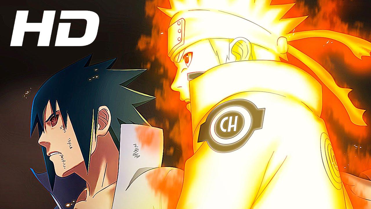 naruto sasuke vs six paths madara full fight english dub