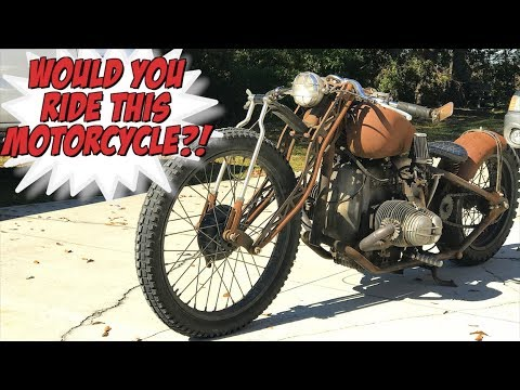 INSANE RAT ROD MOTORCYCLE BUILD | Mad Max BMW R75, would YOU ride it? -  YouTube