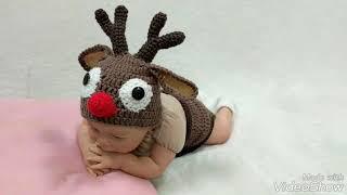 Newborn Reindeer Outfit/Newborn Reindeer Costume/Newborn Halloween Costume