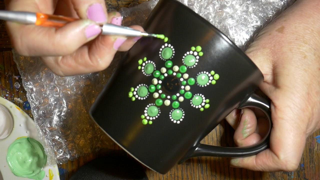 How To Paint Dot Mandalas With Kristin Uhrig 42 Coffee Mug Youtube