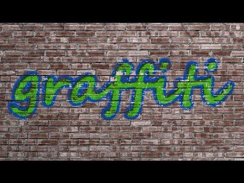 Граффити текст в Фотошопе