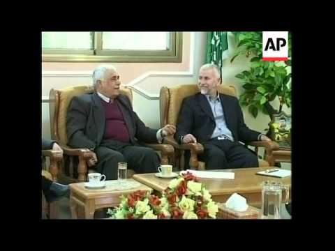 Abbas begins meeting to appoint Haniyeh new Palestinian PM, Hamas
