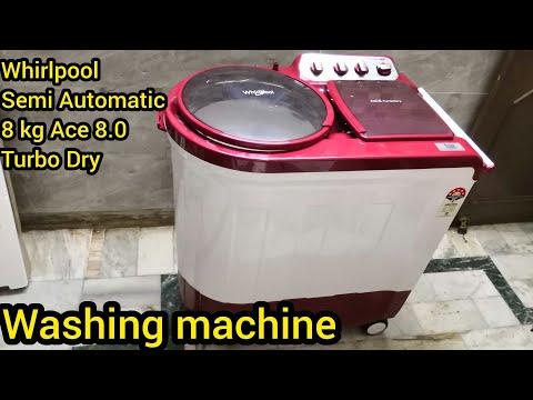 Whirlpool 8kg semi automatic ace turbodry washing machine