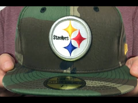 e3a5e2cb6f7 Steelers  NFL TEAM-BASIC  Army Camo Fitted Hat by New Era - YouTube