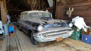 True Barn Find 1957 Chevy 2 Dr Handyman Wagon