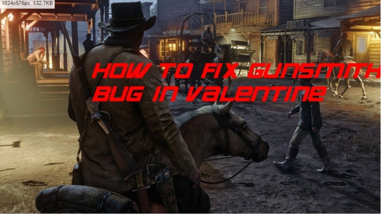 Red Dead Redemption 2 - HOW TO FIX VALENTINE GUNSMITH GLITCH *GUNSMITH SHOP  OWNER NOT THERE*