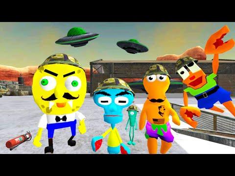 СПАНЧ БОБ в ЗОНЕ 51 Соседи Гренни - SpongeBob Neighbor Escape Sponge Area 51