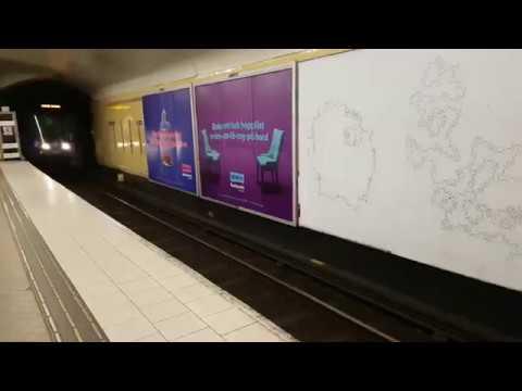 Arrival of Metro Train