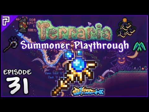 Terraria 1.3.2 Summoner Playthrough | Fishron, Pirate & Pumpking Farming! [#31]