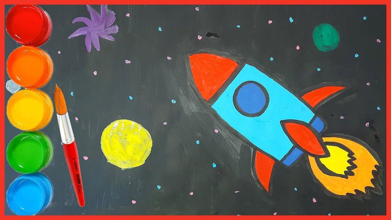 Oyuncak Roket Boyama Ve çizim Ile çocuklar Renkleri öğreniyor Bisbis Tv