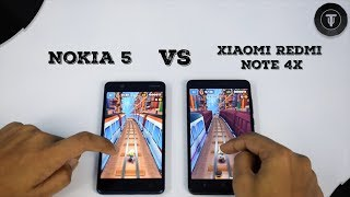 Nokia 5 Vs Xiaomi Redmi Note 4X Speed Test