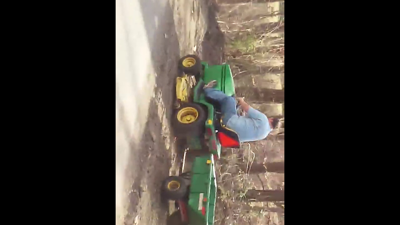 Tractor Going Right On Man : Awesome autistic man going quot h a m on tractor youtube