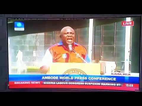 Governor Ambode World Press Conference.
