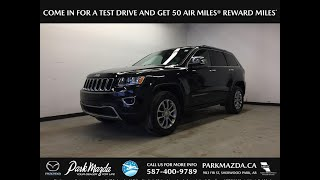 BLACK 2016 Jeep Grand Cherokee  Review Sherwood Park Alberta - Park Mazda