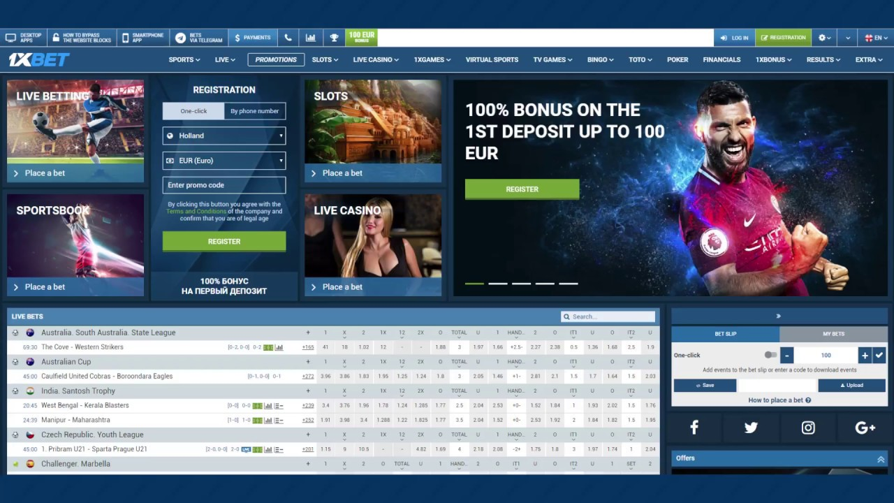 1xBet review UK: Registration on the 1xbet com site and Bonus code