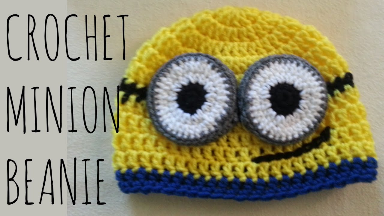 Free Crochet Pattern For Minion Eyes : Minion Beanie Crochet Pattern Character Creation ...