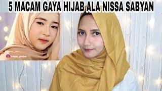 5 MACAM GAYA HIJAB ALA NISSA SABYAN - Hijab Pashmina