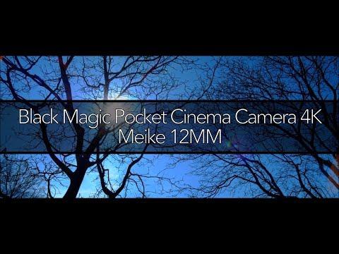 Black Magic Pocket Cinema Camera 4k + Meike Cine 12mm