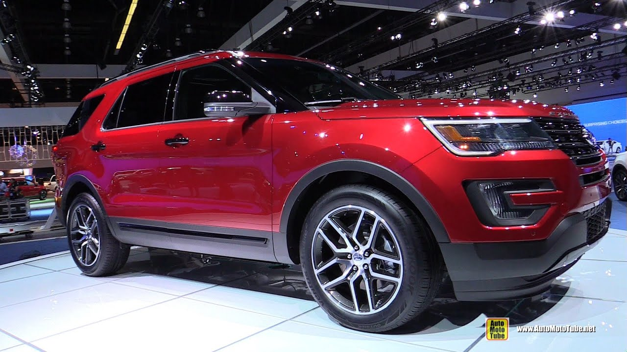 2016 ford explorer sport ecoboost 4wd exterior interior walkaround debut at 2014 la auto show