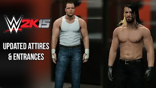 WWE 2K15 - Updated Dean Ambrose & Seth Rollins Attires & Entrances ✦【PS4 / XBOX ONE / Next Gen】