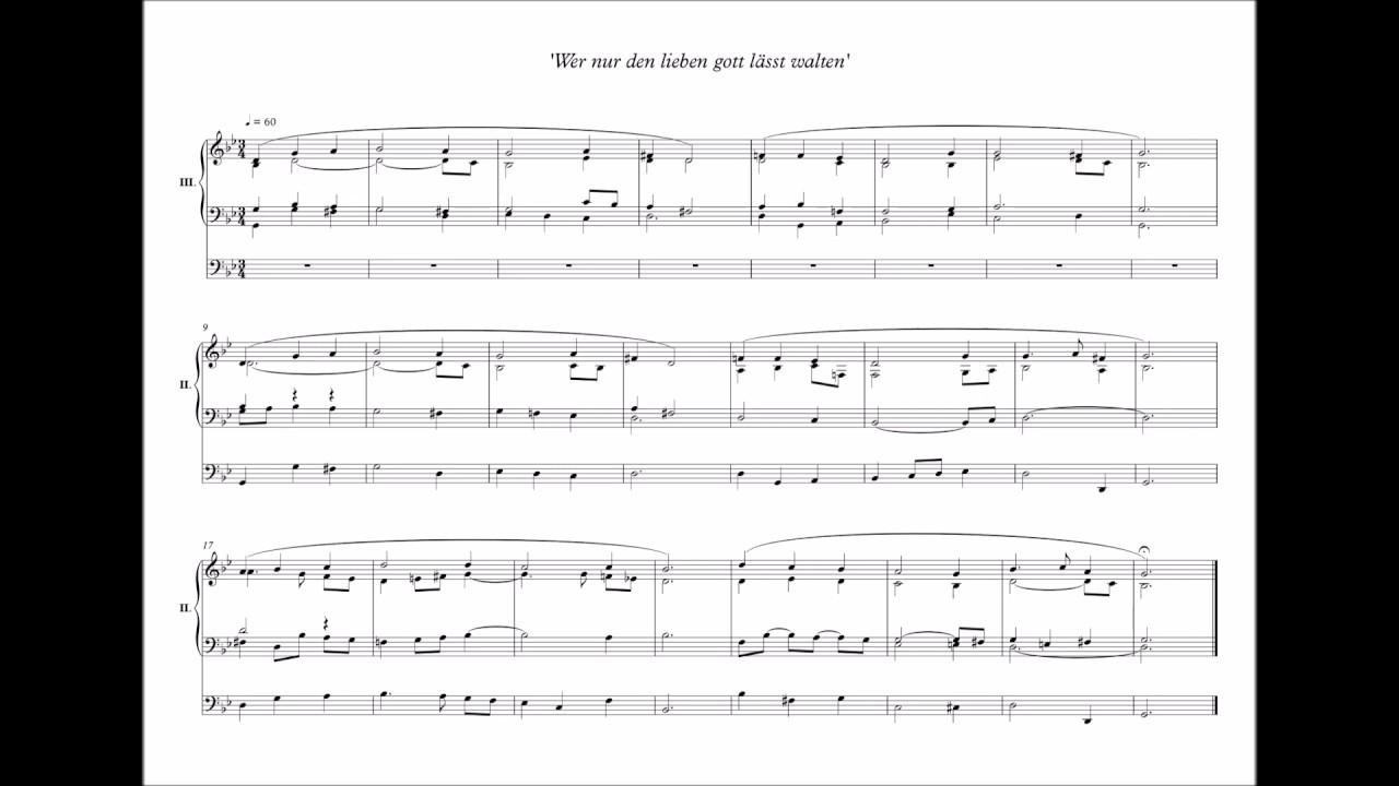 8 Variations on 'Wer nur den lieben gott lässt walten' for Organ Solo (Rolling Score Version)