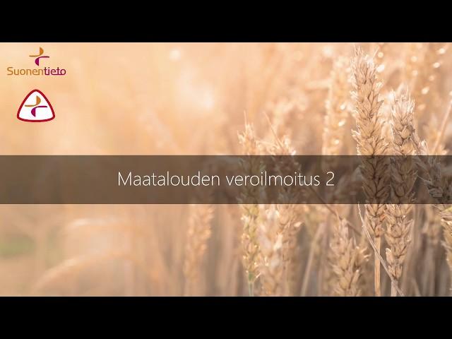 Maatalouden verotilinpäätös 2
