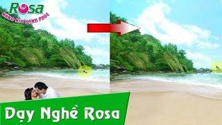 Học Photoshop - Xóa đối tượng bất kì trong ảnh - rosavn.net