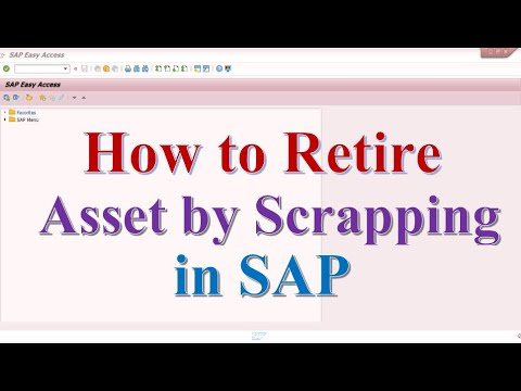 How to Retire Asset by Scrapping in SAP